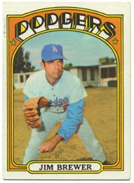 1972 Topps Baseball Cards      151     Jim Brewer
